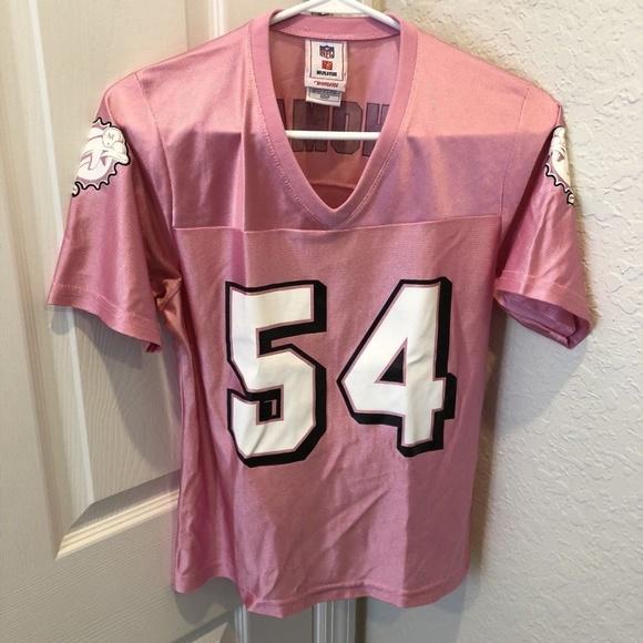 5f858852d NFL Miami Dolphins Zach Thomas  54 Pink Jersey. M 5b22bb0d5c44524a5e718cb9